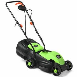 12 Amp 14-Inch Electric Push Lawn Corded Mower With Grass Ba