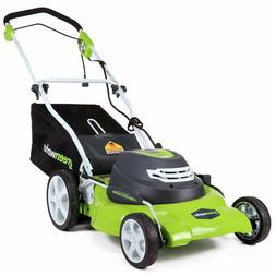 """GreenWorks 12 Amp Corded 20"""" Compact Electric Push Lawn Mowe"""