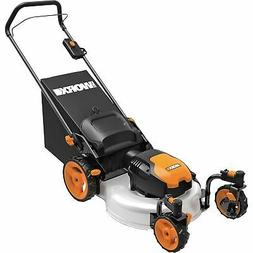 Worx 13 Amp 19in. 3-in-1 Caster Wheeled Walk Behind Electric