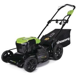 """21"""" 13 Amp Corded Electric Push Lawn Mower Steel Deck Earth"""