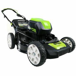 Greenworks 2502202 80V Cordless Lithium-Ion 21 in. 3-in-1 La