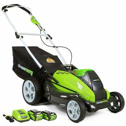 greenworks 25223 40v Cordless 19-Inch Lawn Mower with Two Ba