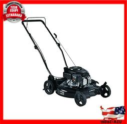 3 in 1 Lawn Mower 21 in Gas Walk Behind Push Backyard Garden