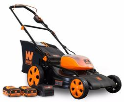 WEN 40439 40V Max Li-ion 19-Inch 3-in-1 Lawn Mower with Two