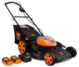 WEN 40441 40V Max Li-Ion 21-Inch 3-in-1 Lawn Mower with Two