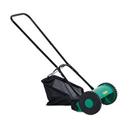 Outsunny 12 Inch 5 Blade Push Lawn Mower with Grass Catcher