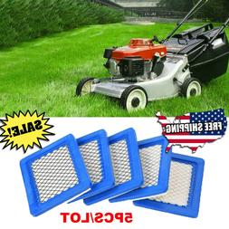 5Pcs Air Filter Lawn Mower Filters for Briggs & Stratton 491