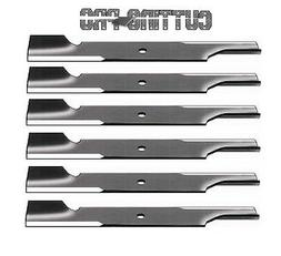 """6- NOTCHED LAWN MOWER BLADES For 52"""" SCAG 482878 48108 48170"""
