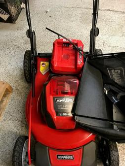 SNAPPER 60 VOLT LITHIUM BATTERY  PUSH MOWER, WITH BATTERY AN