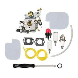 ANTO C1M-W26 Carburetor with Air Filter Fuel Line Filter Kit
