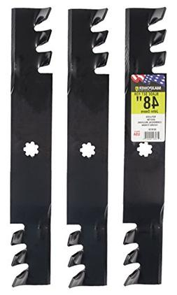 MaxPower 561812X Commercial Mulching 3-Blade Set for 48 Inch