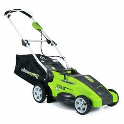 Corded Lawn Mower Greenworks 16 or 17 Inch 10 Amp Best Top P