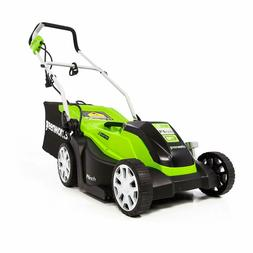 Corded Lawn Mower Grass Cutter Electric Greenworks 14-Inch 9