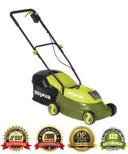 "Cordless Lawn Mower 14"" Wide Path 28V Rechargeable Battery P"