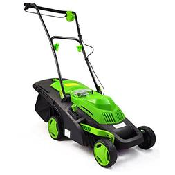 SereneLife  Cordless Lawn Mower, Electric Landscape Mower wi