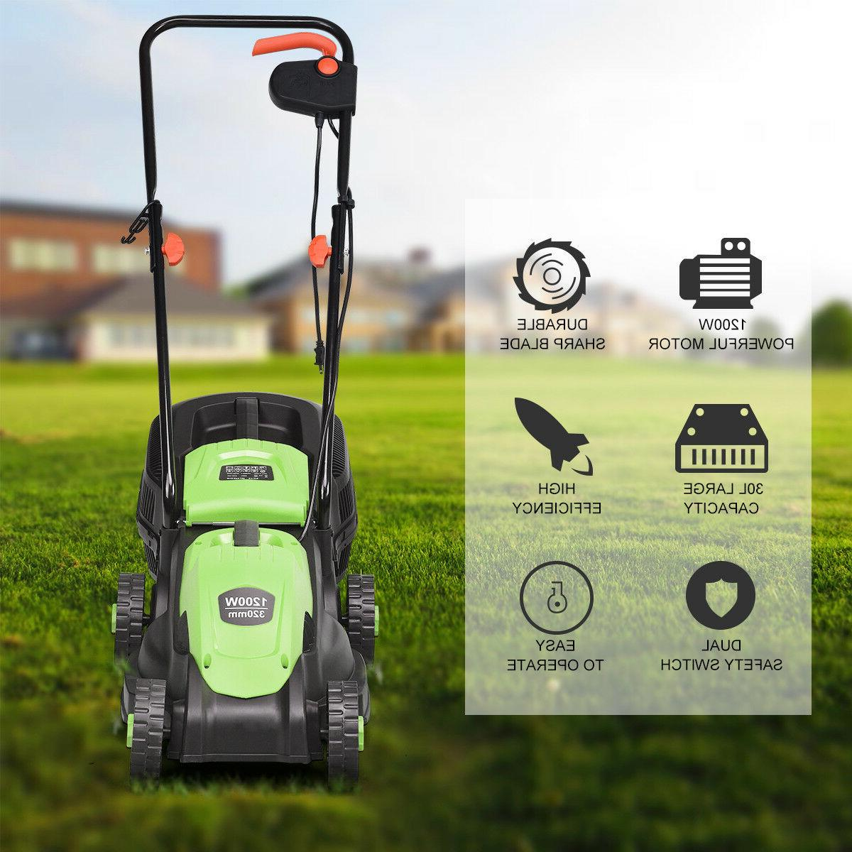 12 14-Inch Push With Bag Green