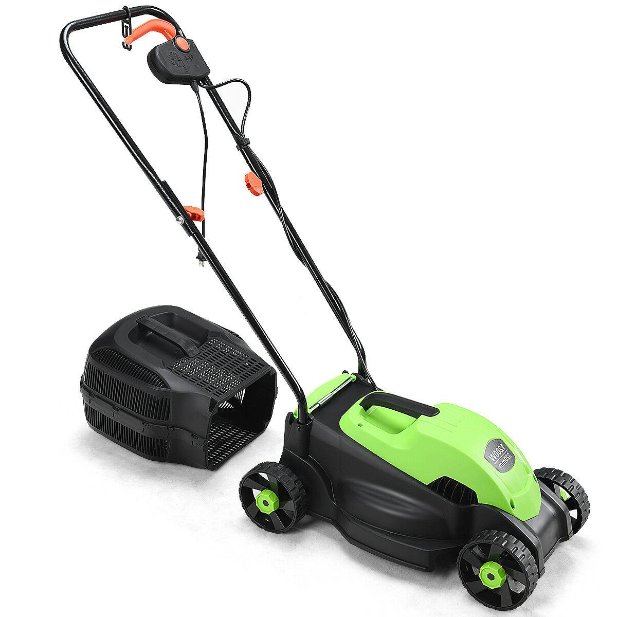 12 Amp Electric Push Lawn Corded Mower With