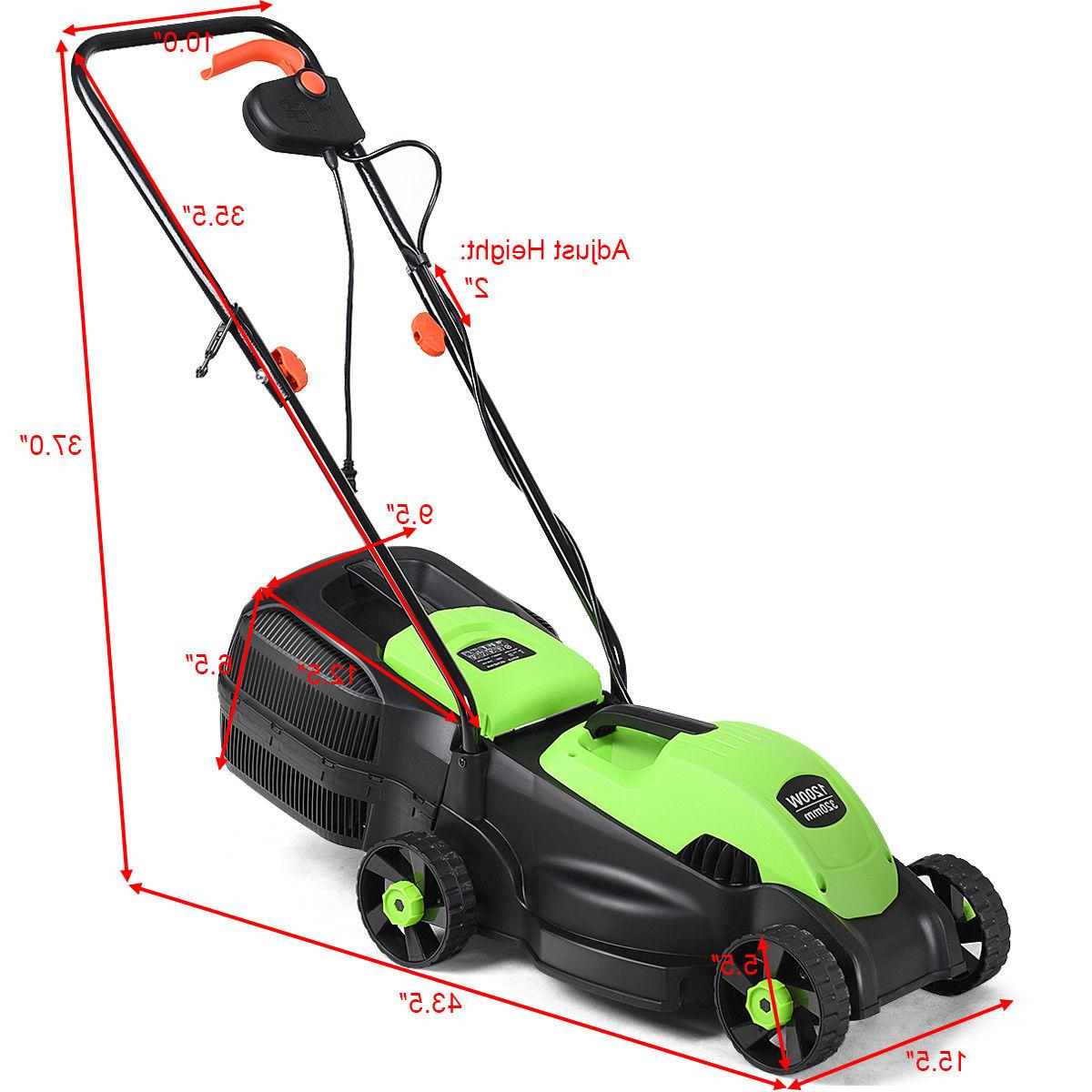 12 Amp Push Lawn Corded With Green