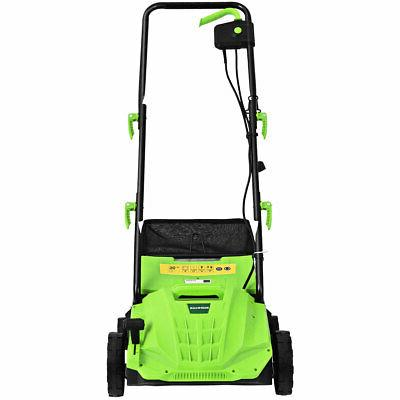"12Amp Corded 13"" Electric Lawn Dethatcher w/40L Collection"