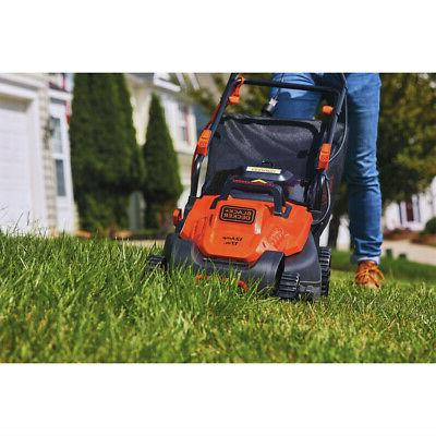 Black & 12 Amp/ 17 in. Electric Lawn Mower