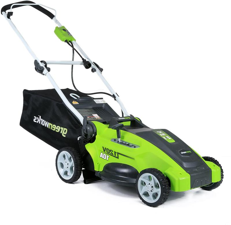 greenworks 1 electric lawn mower
