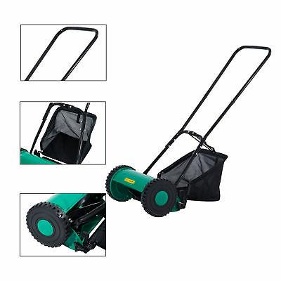 Outsunny Push Lawn Adjustable Reel Mower Grass Classic