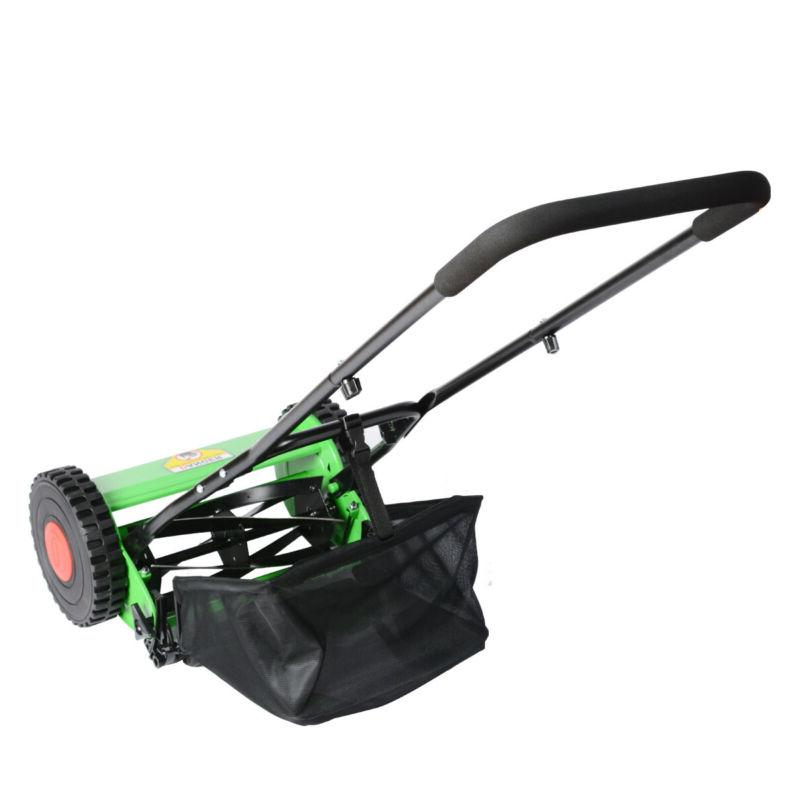 Hand Lawn Mower Courtyard Manual Lawnmower Grass US