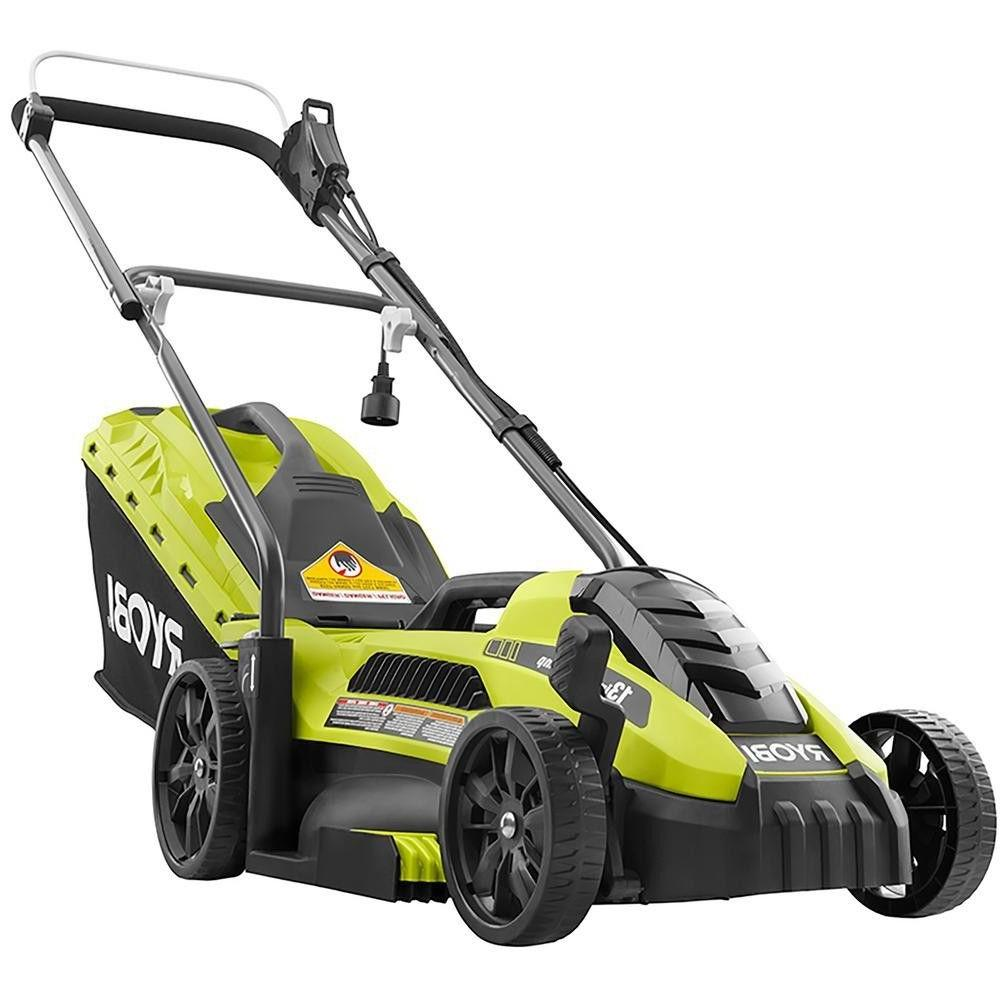 Lawn Mower Corded Electric Walk Behind Push Grass