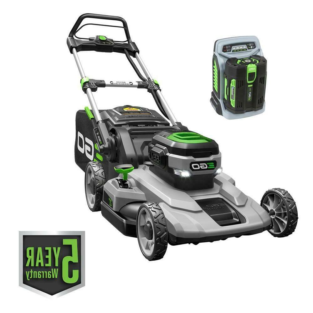 lawn mower electric walk behind push battery