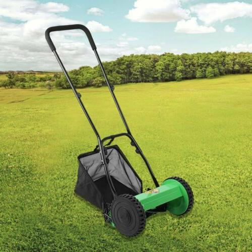 Hand Courtyard Home Reel Mower Manual Lawnmower Grass BP