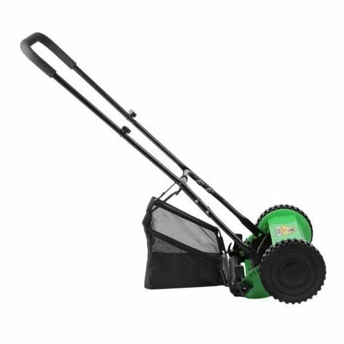 Hand Push Lawn Courtyard Reel Mower Manual Lawnmower Catcher BP