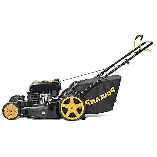 Poulan in. Briggs Stratton Walk Behind Front-Wheel-Drive Mower