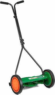 Walk Behind Push Reel Lawn Mower 16 in Outdoor Backyard Ligh