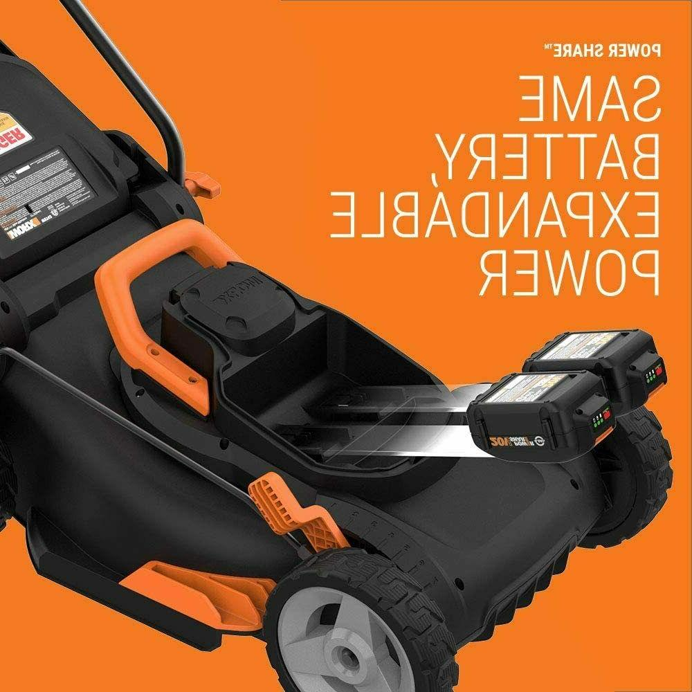 """WORX WG91 OFF 17"""" Lawn Mower 12"""" Cordless GT Trimmer"""
