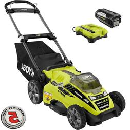 Ryobi Lawn Mower Behind Push  5.0 Ah Battery/Charger 20 in.