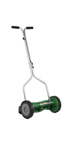 14 in. Manual Reel Lawn Mower Push Grass Cutter Small Compac