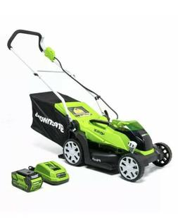 greenworks MO40B00 14-Inch 40V Cordless Lawn Mower Battery &
