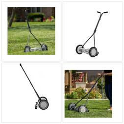Push Reel Lawn Mower Cordless Steel Adjustable Cutting Hand