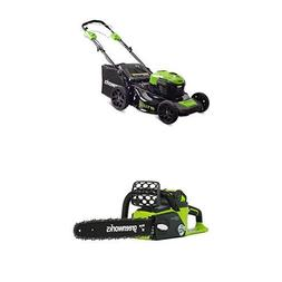 Greenworks 21-Inch 40V Self-Propelled Cordless Lawn Mower wi