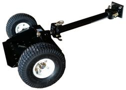 Sulky Tow Behind Lawn Mower Ride Stand On 2 Wheel Attachment