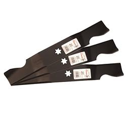 Three  Pack Rotary Lawn Mower Blades Replace Cub Cadet 742-0