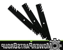 """MowerPartsGroup  Toothed Blades Fits John Deere with 60"""" 7 I"""