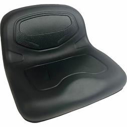 Milsco TS3400 Formed Vinyl 1-Piece Lawn Mower Seat — Black