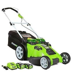Cordless Electric Lawn Mower Twin Force Self Propelled Batte