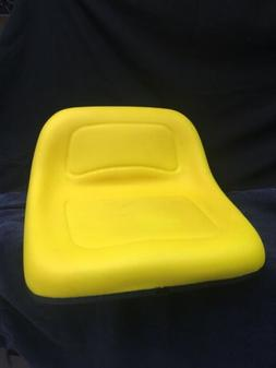 Universal riding lawn mower seat in yellow, Medium back, fit