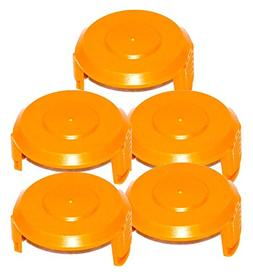 SET OF 5 WA6531 WORX Trimmer Spool Cap Cover WG150, WG150.1,